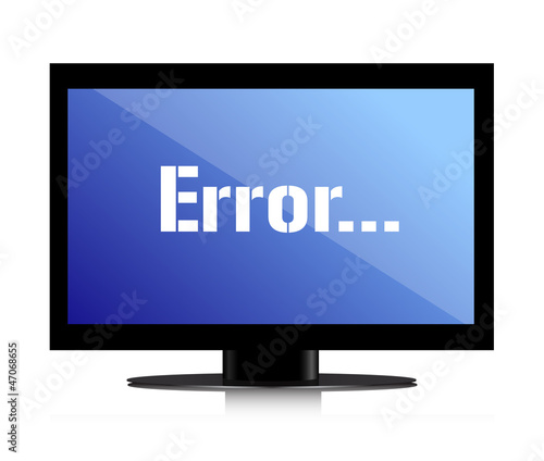 error message on a monitor