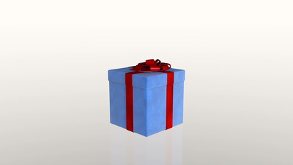Gift box jiggling to release a virtual product, loop