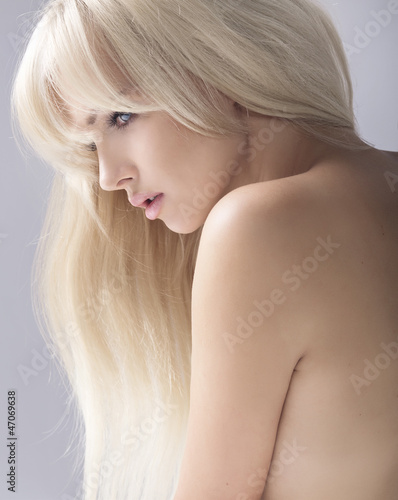 Portrait of a beauty blonde