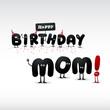 Funny Birthday card - Vector.