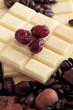 cioccolato bianco barrette con mirtilli