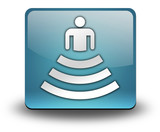 "Light Blue 3D Effect Icon ""Amphitheater"""