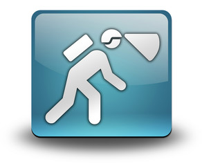 "Light Blue 3D Effect Icon ""Spelunking / Caving"""