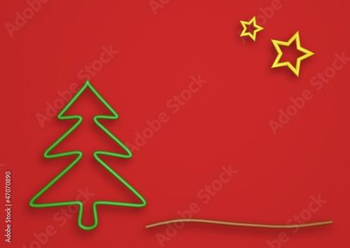 Weihnachtsbaum und Sterne