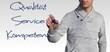 Person schreiben - Qualität Service Kompetenz