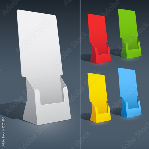 Blank brochure holder template for designers.