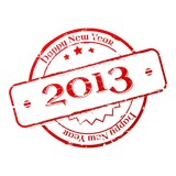 New year 2013 stamp