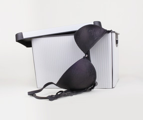 black bra in box