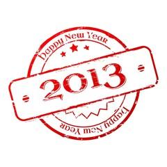 New year 2013 stamp