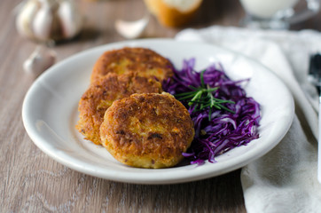 Vegetable cutlets of chick peas and carrots