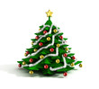 christmas tree 3d illustration