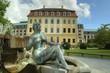 Dresden, Germany - Statue vor Blockhaus