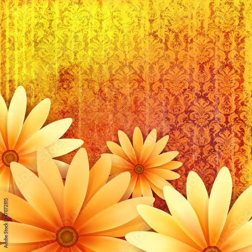 Fototapeta na wymiar vector floral ornate grunge background