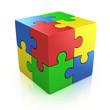 colorful cubic 3d puzzle