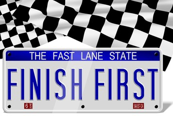 Finish first number plates