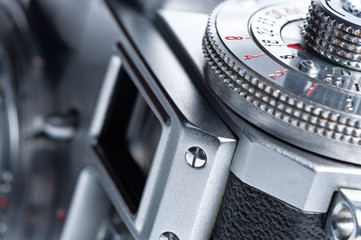 Viewfinder of the old camera.
