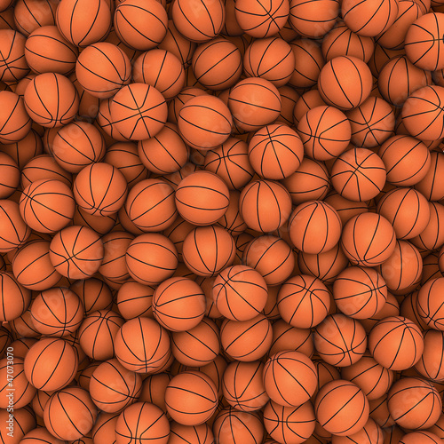 Basketballs background