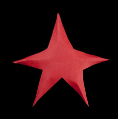 Red star atop the Christmas tree