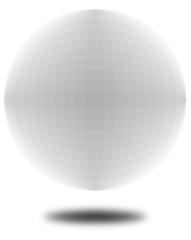 Vektor 3D Kugel weiß