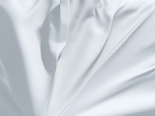 abstract white folded textile background