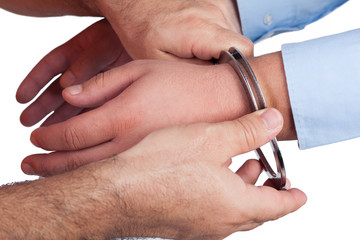 hands whith handcuffs