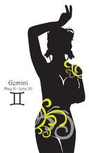 Stylizowany znak zodiaku Bliźnięta