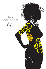 Silhouette of a girl interpretation zodiac sign