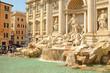 Leinwanddruck Bild - Trevi fountain, Rome, Italy