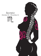 Stylizowany znak zodiaku Skorpion