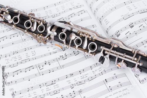 Partitur für Klarinette