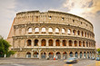 The ancient Colosseum in Rome