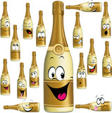 Bottle of Champagne funny cartoon