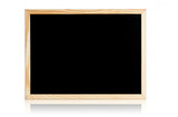 Clean black board with copy space