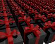 Cajas de regalo de color negro