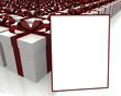 Tarjeta y cajas de regalos