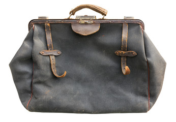 Old bag on white. Clipping path included.