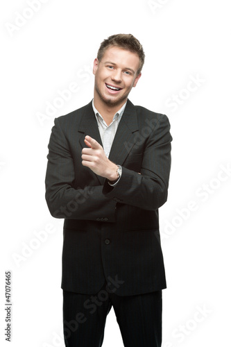 young successful smiling businessman