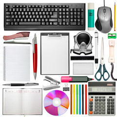 Set of office stationery