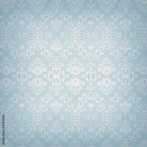 Hintergrund blau - Damast-Tapete