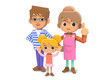 Three families01