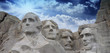 Leinwanddruck Bild - Colors of the sky above Mount Rushmore - South Dakota