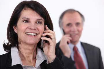 Mature businesswoman on a telephone