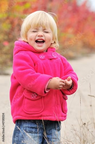laughing baby girl