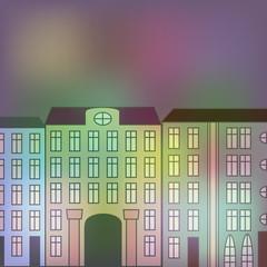 City street and night