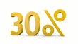 30%_das %zeichen dreht sich um die senkrechte Achse - 3D Video