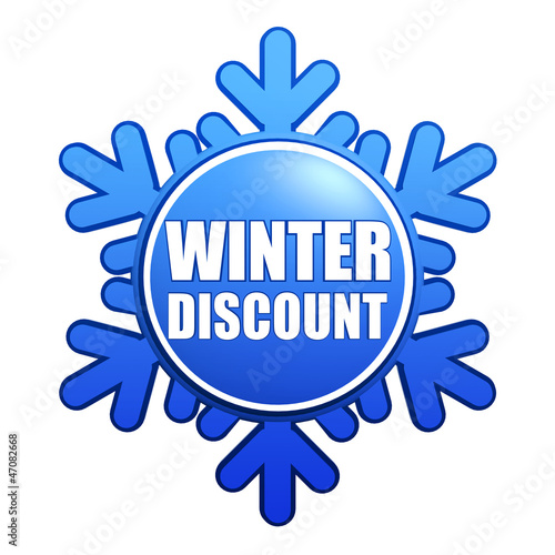 winter discount snowflake label
