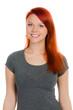 freundliches mädchen mit roten haaren