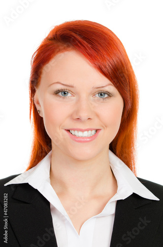 portrait einer jungen geschäftsfrau