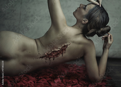 Fantastic shoot of suffering woman