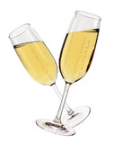 Champagne glasses isolated